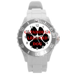 Catahoula Name Paw Round Plastic Sport Watch (L)