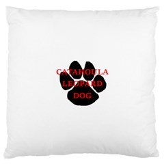 Catahoula Name Paw Large Cushion Cases (One Side)