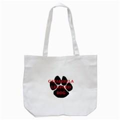 Catahoula Name Paw Tote Bag (White)