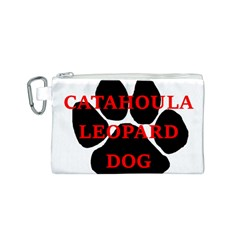 Catahoula Name Paw Canvas Cosmetic Bag (S)