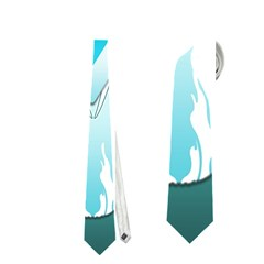Snowboarder With Snowboard Neckties (two Side)