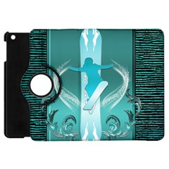 Snowboarder With Snowboard Apple iPad Mini Flip 360 Case
