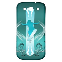 Snowboarder With Snowboard Samsung Galaxy S3 S III Classic Hardshell Back Case