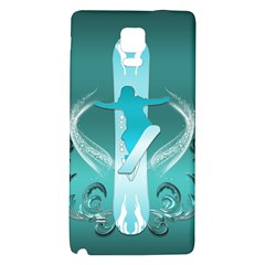 Snowboarder With Snowboard Galaxy Note 4 Back Case