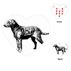 Chesapeake Bay Retriever Drawing Playing Cards (Heart)