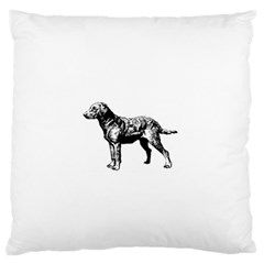 Chesapeake Bay Retriever Drawing Large Flano Cushion Cases (Two Sides)