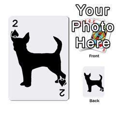 Chihuahua Silhouette Playing Cards 54 Designs