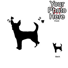 Chihuahua Silhouette Playing Cards 54 (Heart)