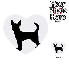 Chihuahua Silhouette Multi-purpose Cards (Heart)