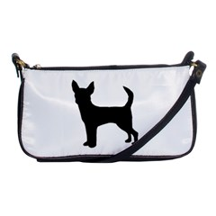 Chihuahua Silhouette Shoulder Clutch Bags