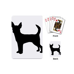 Chihuahua Silhouette Playing Cards (Mini)