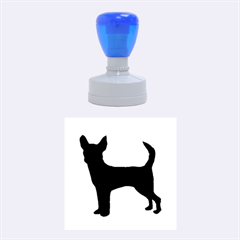 Chihuahua Silhouette Rubber Round Stamps (Medium)