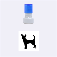 Chihuahua Silhouette Rubber Round Stamps (Small)