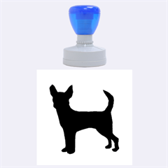 Chihuahua Silhouette Rubber Round Stamps (Large)