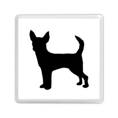 Chihuahua Silhouette Memory Card Reader (square)