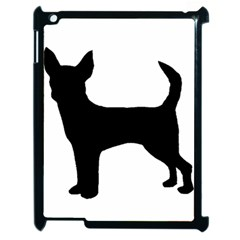Chihuahua Silhouette Apple iPad 2 Case (Black)