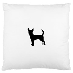 Chihuahua Silhouette Large Cushion Cases (One Side)