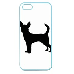 Chihuahua Silhouette Apple Seamless iPhone 5 Case (Color)