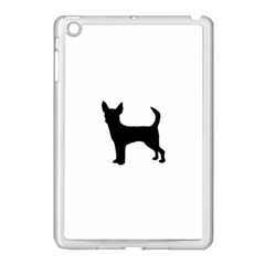Chihuahua Silhouette Apple iPad Mini Case (White)