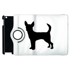 Chihuahua Silhouette Apple iPad 2 Flip 360 Case