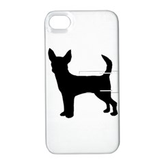 Chihuahua Silhouette Apple iPhone 4/4S Hardshell Case with Stand