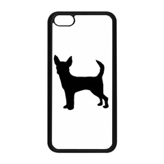 Chihuahua Silhouette Apple iPhone 5C Seamless Case (Black)