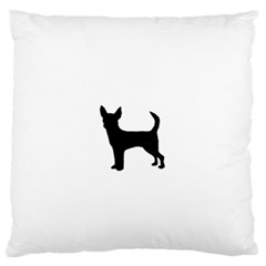 Chihuahua Silhouette Large Flano Cushion Cases (Two Sides)