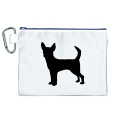 Chihuahua Silhouette Canvas Cosmetic Bag (XL)