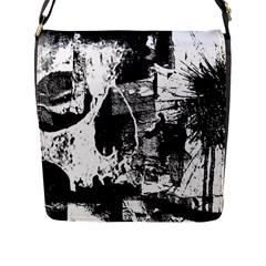 Grunge Skull Flap Messenger Bag (L)