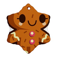 Gingerman Ornament (Snowflake)