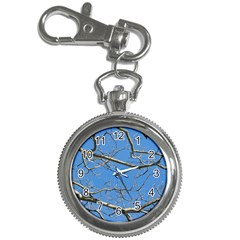 Leafless Tree Branches Against Blue Sky Key Chain Watches