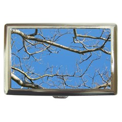 Leafless Tree Branches Against Blue Sky Cigarette Money Cases