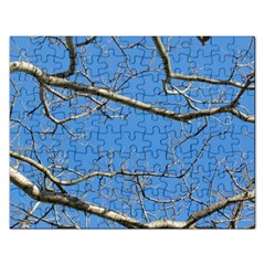 Leafless Tree Branches Against Blue Sky Rectangular Jigsaw Puzzl