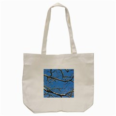 Leafless Tree Branches Against Blue Sky Tote Bag (Cream)