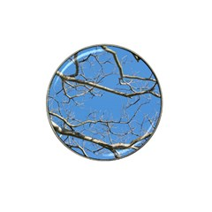 Leafless Tree Branches Against Blue Sky Hat Clip Ball Marker