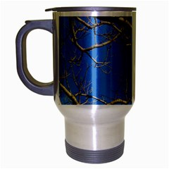 Leafless Tree Branches Against Blue Sky Travel Mug (Silver Gray)