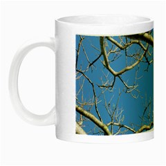 Leafless Tree Branches Against Blue Sky Night Luminous Mugs
