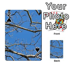 Leafless Tree Branches Against Blue Sky Playing Cards 54 Designs