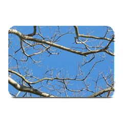 Leafless Tree Branches Against Blue Sky Plate Mats