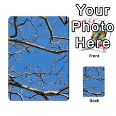 Leafless Tree Branches Against Blue Sky Multi-purpose Cards (Rectangle)