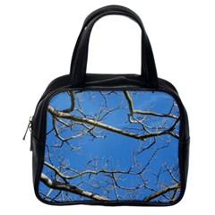 Leafless Tree Branches Against Blue Sky Classic Handbags (One Side)