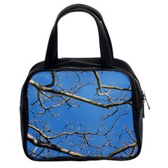 Leafless Tree Branches Against Blue Sky Classic Handbags (2 Sides)