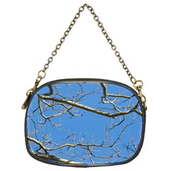 Leafless Tree Branches Against Blue Sky Chain Purses (Two Sides)
