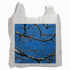Leafless Tree Branches Against Blue Sky Recycle Bag (One Side)