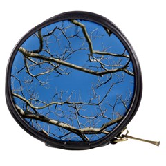 Leafless Tree Branches Against Blue Sky Mini Makeup Bags