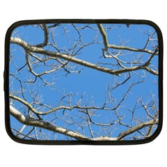 Leafless Tree Branches Against Blue Sky Netbook Case (XL)