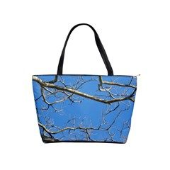 Leafless Tree Branches Against Blue Sky Shoulder Handbags