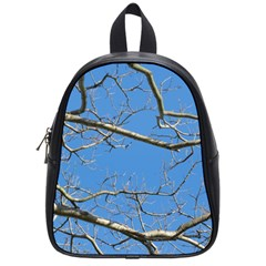 Leafless Tree Branches Against Blue Sky School Bags (Small)