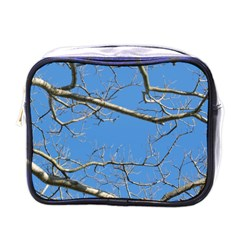Leafless Tree Branches Against Blue Sky Mini Toiletries Bags