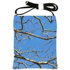 Leafless Tree Branches Against Blue Sky Shoulder Sling Bags